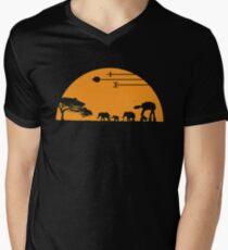 elephant forest Men's V-Neck T-Shirt