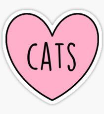 Cats- heart sticker Sticker