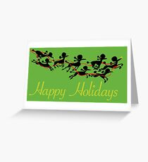 Poodle Sleigh Greeting Card