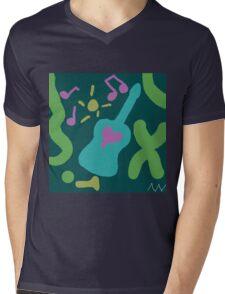 Love of Music Mens V-Neck T-Shirt
