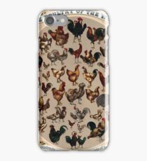 Antique Infographic - The Poultry of the World (1868) iPhone Case/Skin
