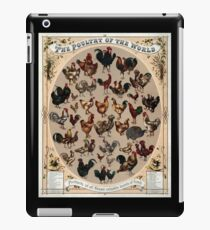Antique Infographic - The Poultry of the World (1868) iPad Case/Skin