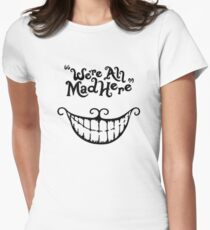 were mad smile Womens Fitted T-Shirt