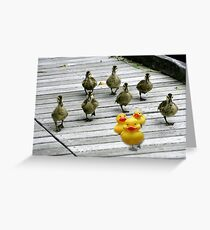 """Ten Little Ducks Went Out One Day"" Greeting Card"