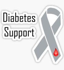 Diabetes Support black Sticker