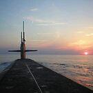 USS Louisiana Sunset by Kiersten Giuliano