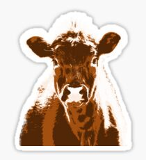 Brown Cow Farm Animal Sticker