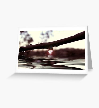 Let the healing waters flow.. Greeting Card