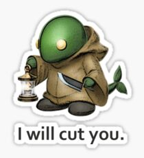 I will cut you. Sticker