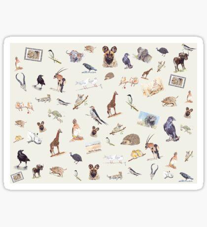 Lodge décor - Wildlife festival Sticker