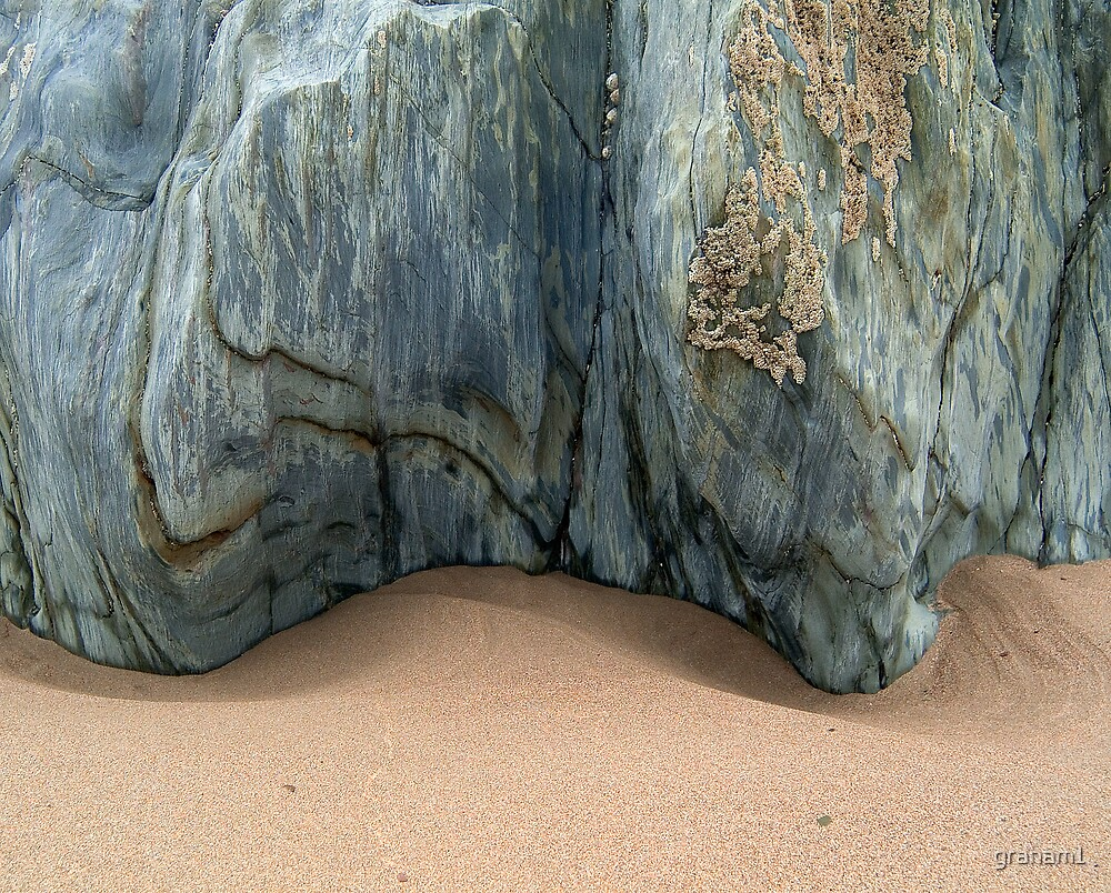 blue rock and sand by graham1