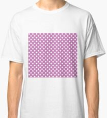 Orchid Purple Polka Dot Pattern Classic T-Shirt