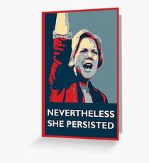 Elizabeth Warren: She Persisted Greeting Card
