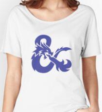 DND Blue Logo Women's Relaxed Fit T-Shirt