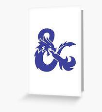 DND Blue Logo Greeting Card