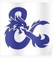 DND Blue Logo Poster