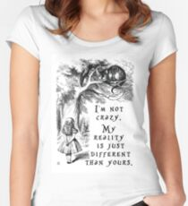 I'm not crazy Fitted Scoop T-Shirt