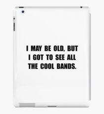 Old See Cool Bands iPad Case/Skin