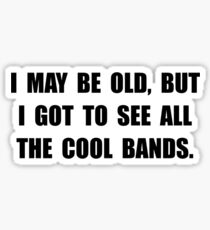 Old See Cool Bands Sticker