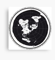 Flat Earth Maps Canvas Print