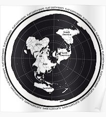 Flat Earth Maps Poster