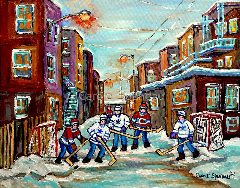 Quot Artists Of Canada Canadian Paintings Of Hockey Art Urban
