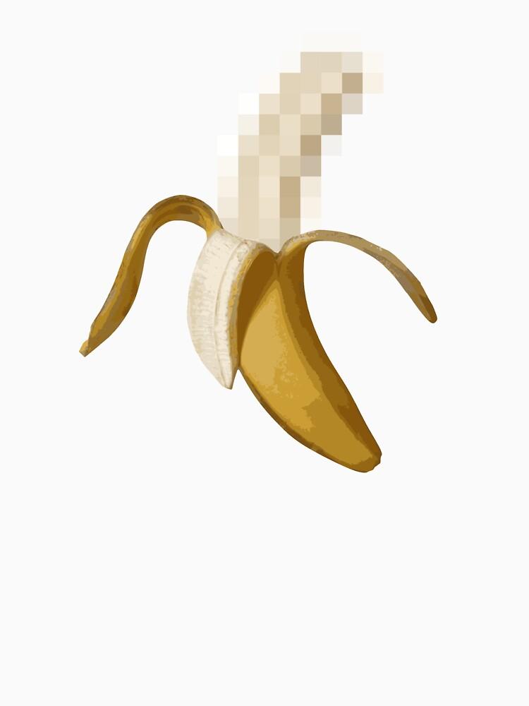 Dirty Censored Peeled Banana by TheShirtYurt