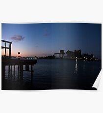 Sunset on the Harbor - Newcastle, Australia Poster