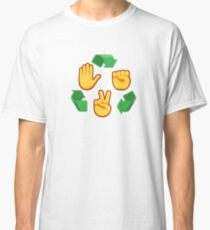 Emoji Rock Paper Scissors Classic T-Shirt