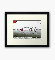 In the water Millicent wished she could stay. Framed Print