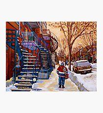 CANADIAN URBAN SCENES CANADIAN WINTER CITY ART PAINTINGS CAROLE SPANDAU Photographic Print