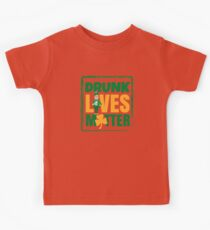 Funny Drunk Lives Matter Saint Patrick Day Kids Tee