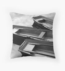 Row Boats Throw Pillow