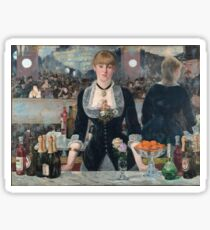 Edouard Manet - Eine Bar im Folies-Bergère Sticker