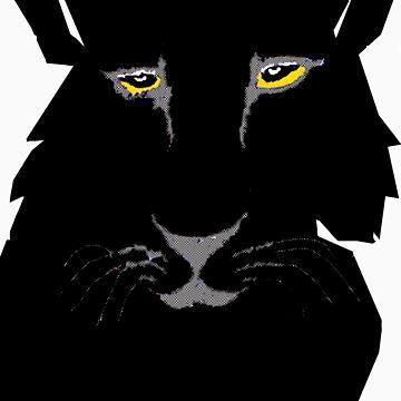 black panther  by Rayjun