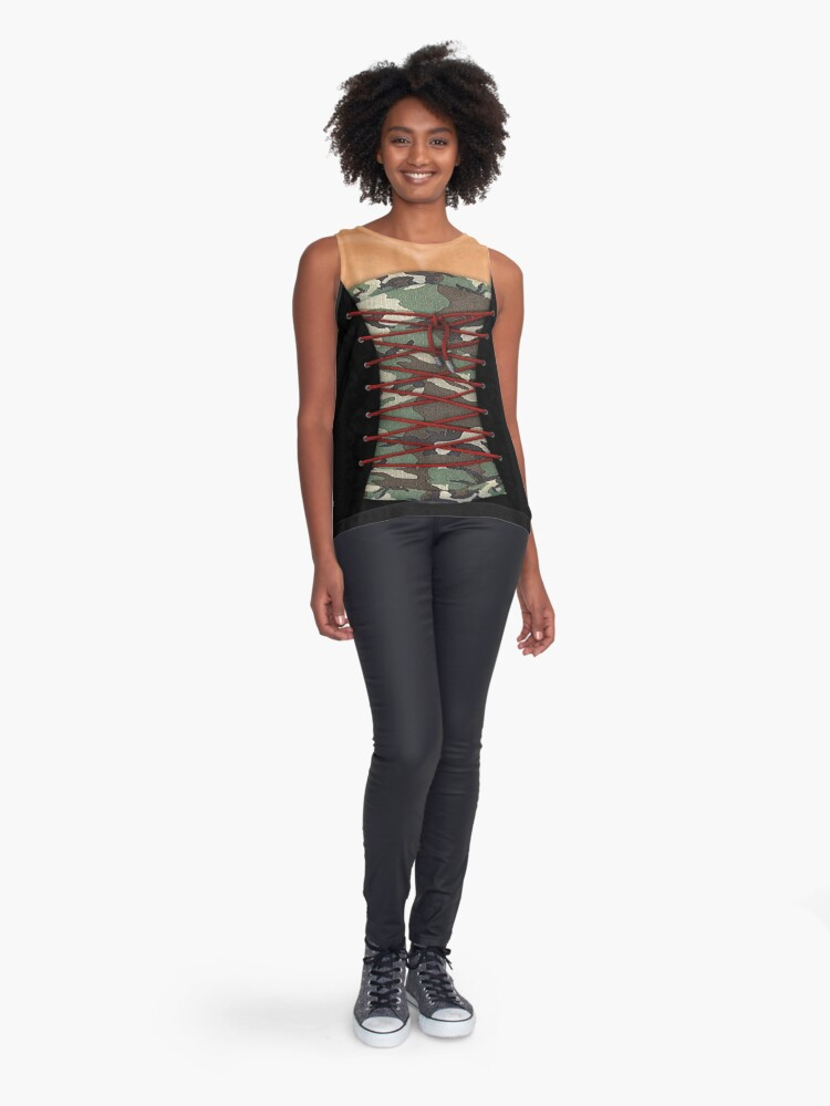 Alternate view of Camouflage corsage Sleeveless Top