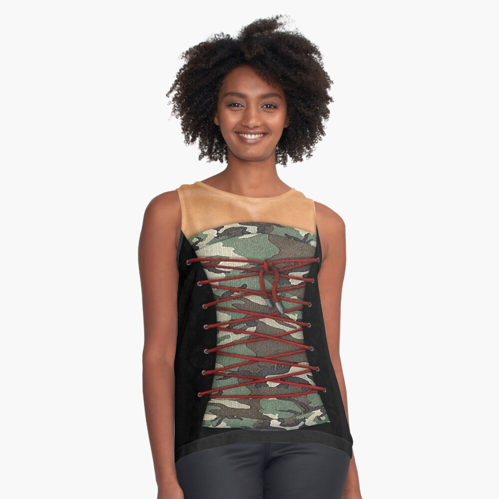 Camouflage corsage Contrast Tank Front