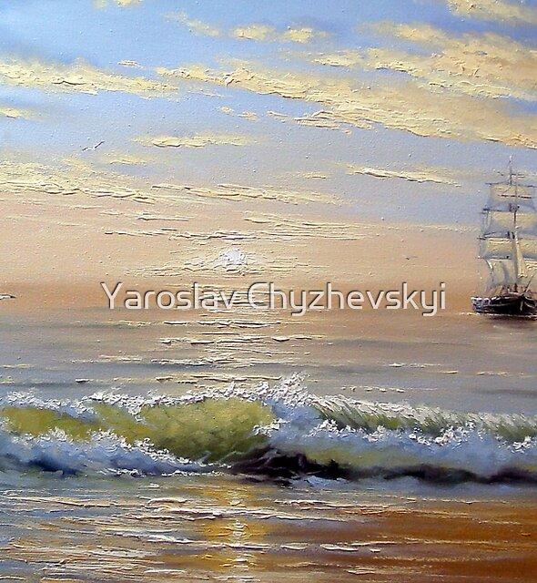 Sea, ship by Yaroslav Chyzhevskyi
