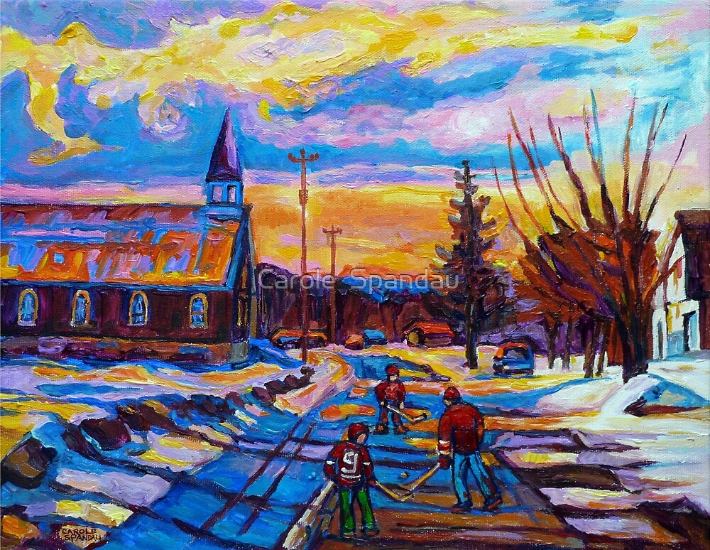 Quot Canadian Landscape Hockey Art Paintings Winter Scenes Of