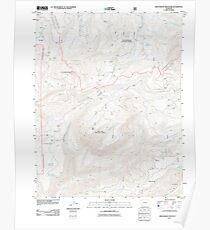USGS TOPO Map Colorado CO Groundhog Mountain 20110610 TM Poster