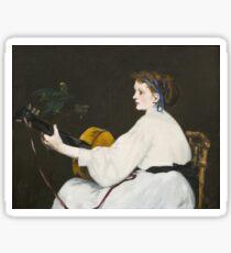 Edouard Manet - The Guitar Player Sticker