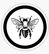 BLACK CIRCLE HONEY BEE Sticker