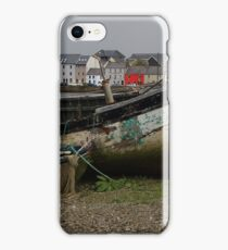 Old boats on Galway Bay iPhone Case/Skin