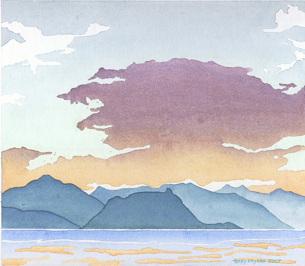 Sunset Over Howe Sound by Terry Krysak