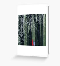 wolves lead the pack. Greeting Card