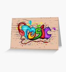 graffiti music Greeting Card