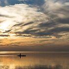 Watercolor Paddle - Kayaking Through a Glorious Silken Morning by Georgia Mizuleva