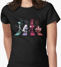 Crystal Gem Road Womens Fitted T-Shirt