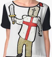 cartoon medieval knight Chiffon Top