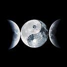 Triple Moon Yin Yang by lizart-designs